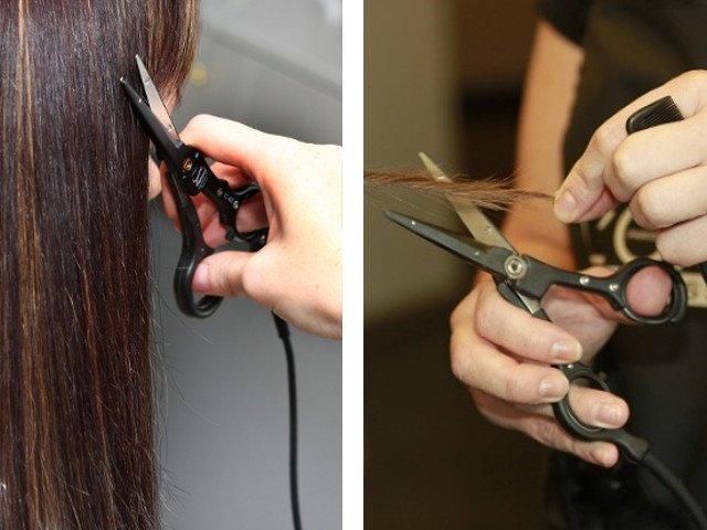 Стрижка горячими ножницами: что такое? (фото до и после)
