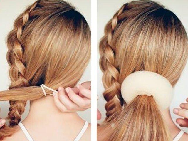 Праздничные прически на средние волосы стильные укладки своими руками