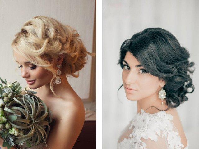 Свадебные прически фото на средние волосы в домашних условиях 189