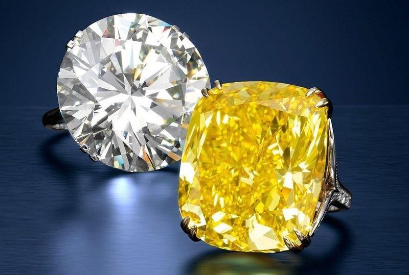 Белый и жёлтый бриллиант во сне