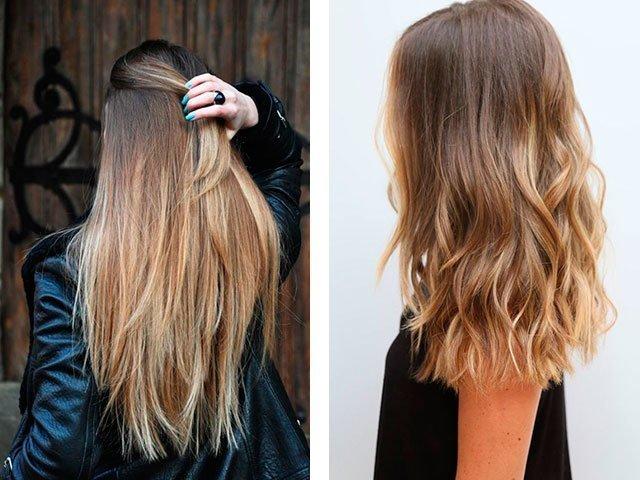 Русые волосы с мелированием на концах
