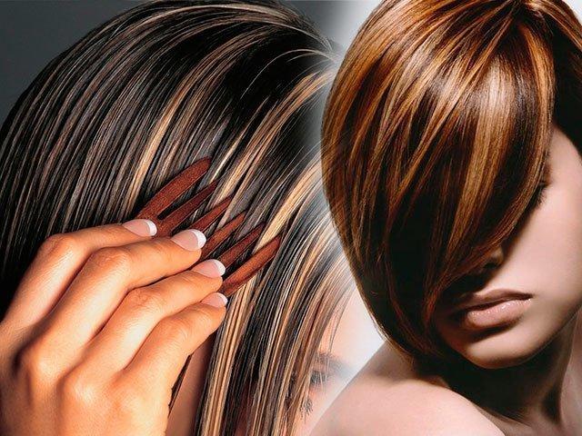 Как сделать мелирование на черные волосы фото 590