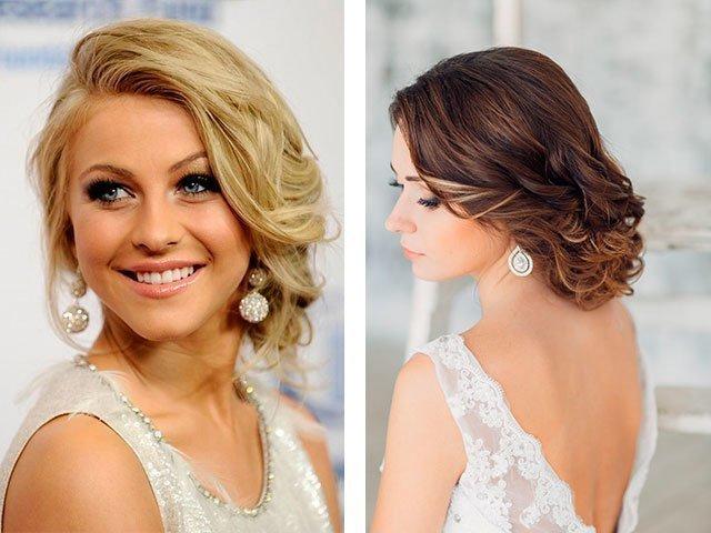 Причёски для средних волос на выпускной фото