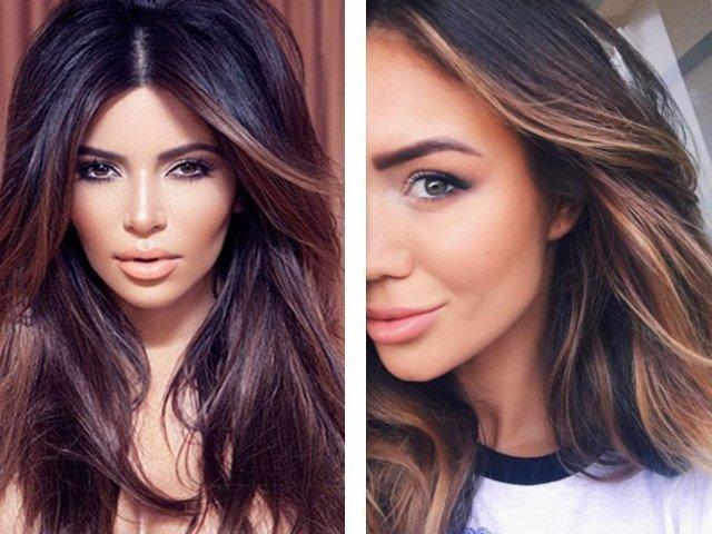 Колорирование на темные и светлые волосы фото