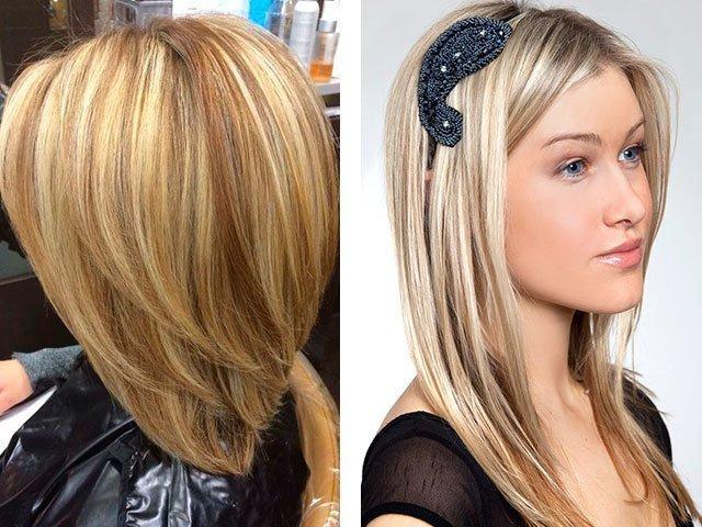 Яркое мелирование на русые волосы