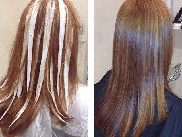 Колорирование волос фото на светлые волосы до и после