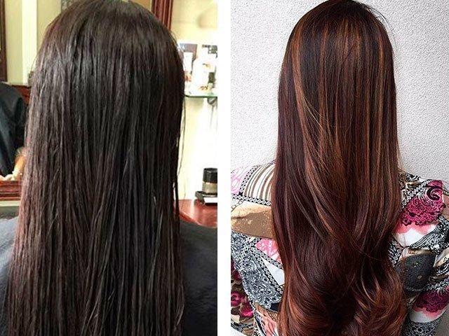 Как сделать мелирование на черные волосы фото 207