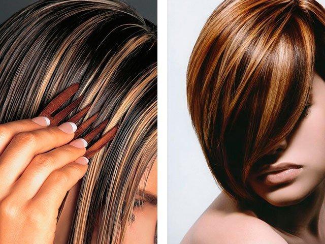 Как дома сделать мелирование волос на темные волосы 39
