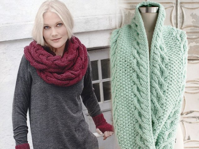 Женские шарфы спицами описанием схемами фото 86
