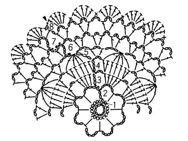 Схема салфетки крючком для начинающих фото 628