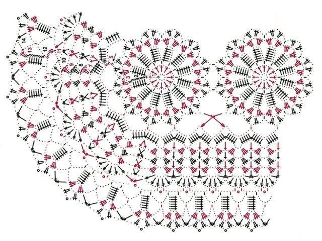 красивые салфетки крючком схемы с описанием