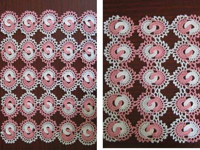 Muy hermosas servilletas con los patrones de ganchillo
