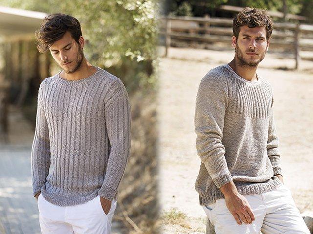 2387d671eb8f0 Мужской свитер спицами - схемы с описаниями