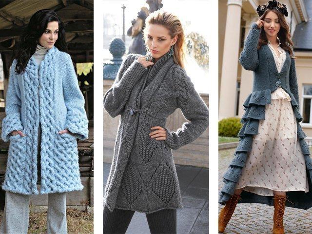 Связать пальто спицами со схемами 178