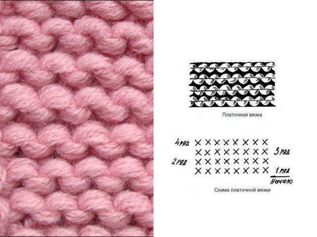 Вязание платочной вязкой схема фото 848