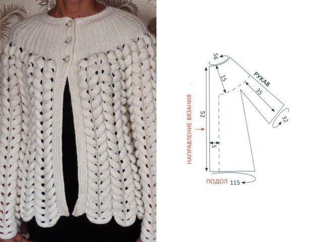 Азиатский колосок спицами | вязание-узоры | постила.