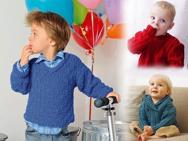 sviter-spicami-dlia-malichika-1 Детский свитер спицами для мальчика (схемы)