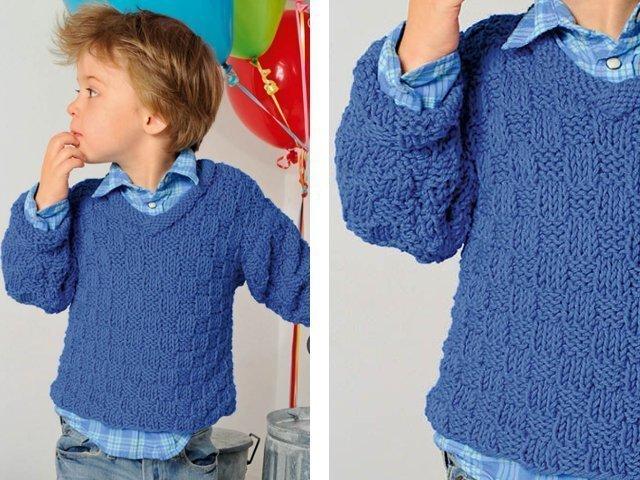 вязание детского свитера для мальчика спицами