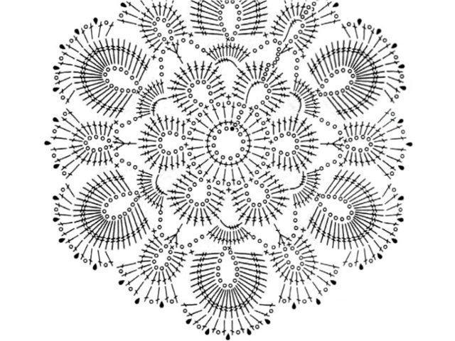 схема вязания мотивы кофты