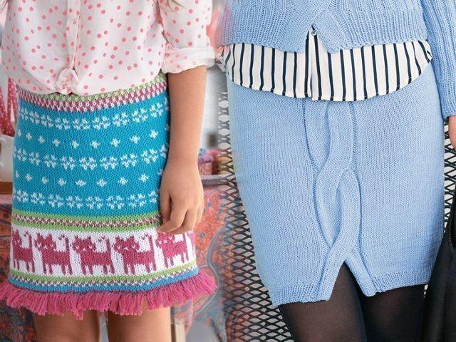 вязание юбки спицами схему и описание для начинающих