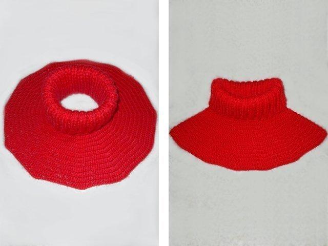 схема вязания крючком манишки для мальчика