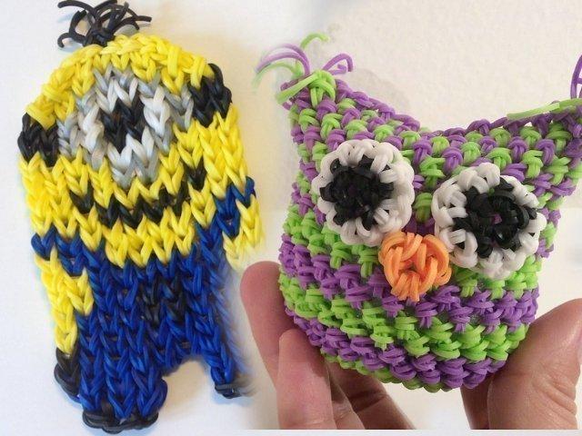 Плетение фигурок на рогатке на станке