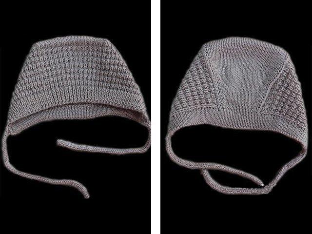 Чепчик спицами для новорожденного