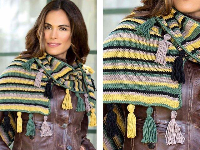 Вязание шали спицами: схемы и описание