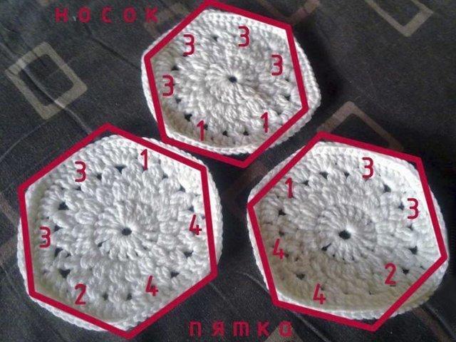 Вязание тапочек крючком: фото и видео уроки для начинающих