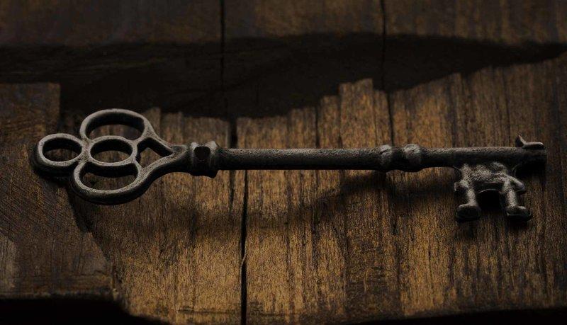 Антикварный ключ
