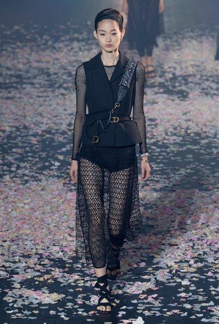 Черное кружево и сетка от Dior