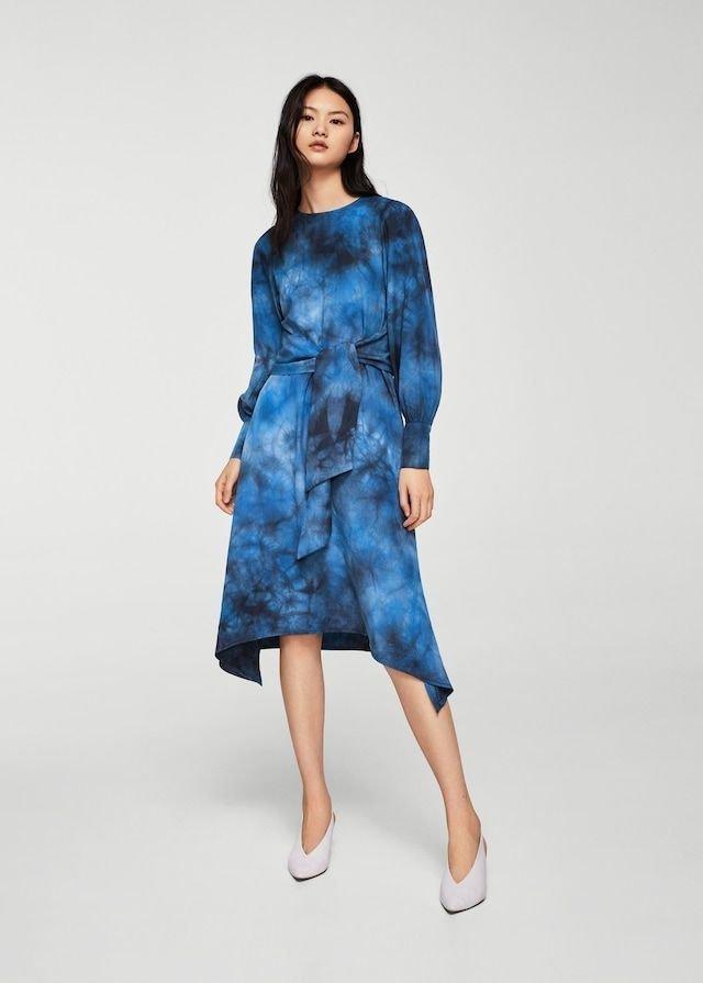 Платье с акварельными разводами от No.21