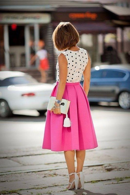 Яркая юбка на весну