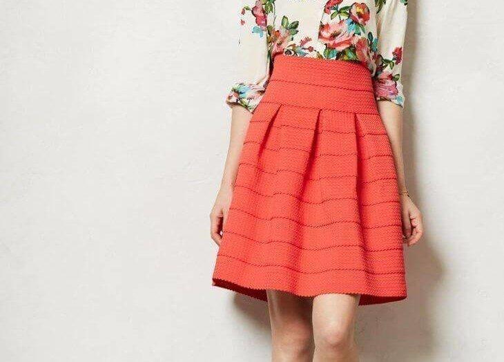 Красивая юбка колокол