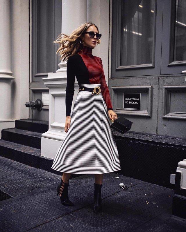 Модная юбка миди