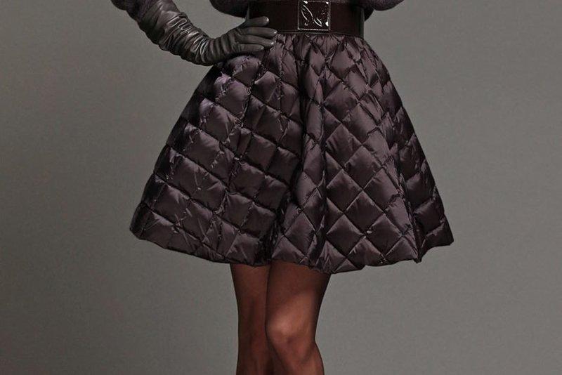 Стеганая юбка стильная