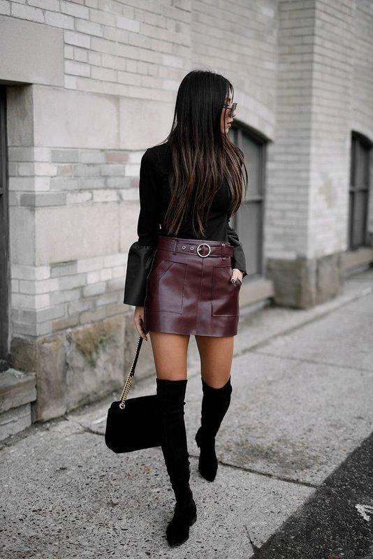 Стильная юбка с легким свитшотом