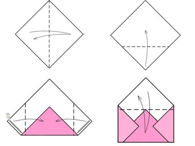 Открытка из тетрадного листа