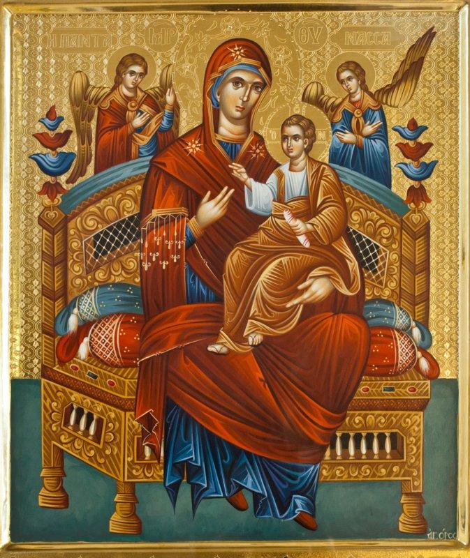 Описание иконы Божьей Матери «Всецарица»