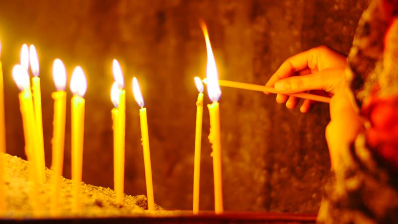 Молитва о здоровье при зажжёных свечах