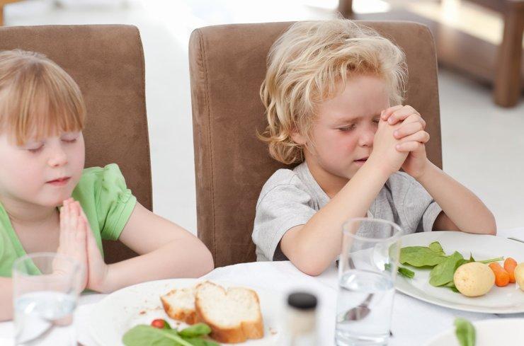 Молитва на принятие пищи