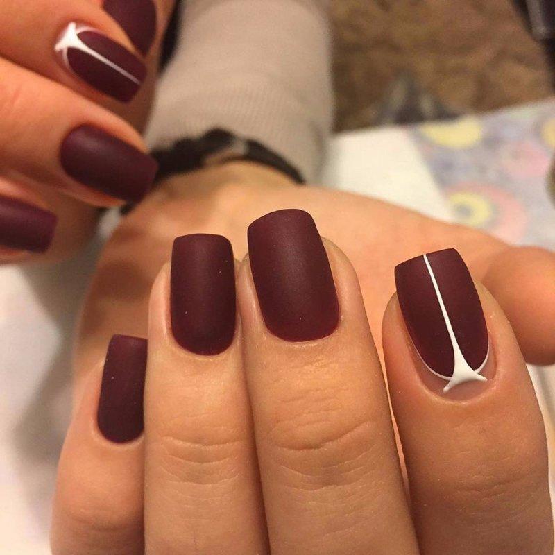 Элегантные матовые ногти