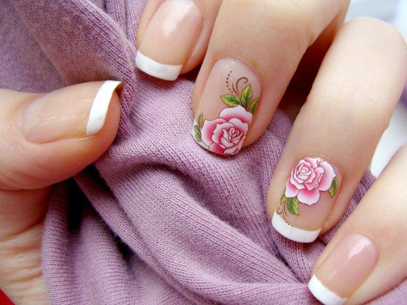 Классический френч со слайдами-розами