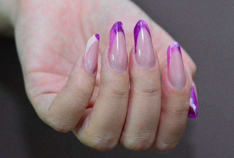 Пурпурный френч с разводами