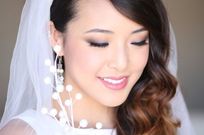 Нежный свадебный мейкап для азиаток