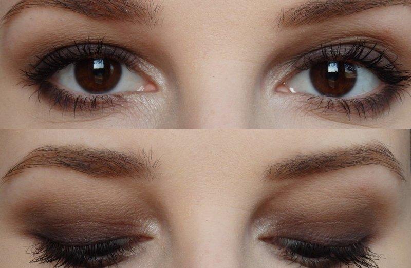 Коричневый смоки айс для карих глаз