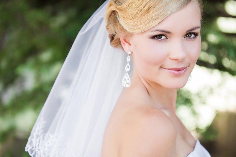 Нежный мейкап на свадьбу для карих глаз