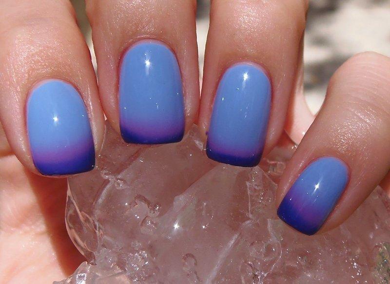 Голубо-синий термолак