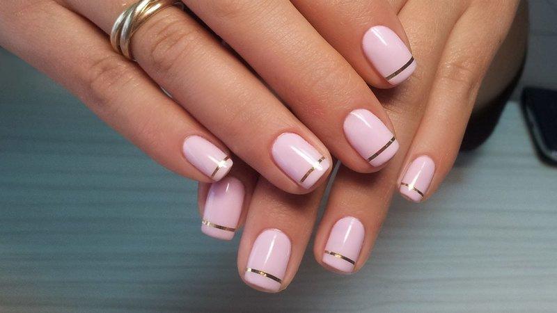 Нежные розовые ноготки