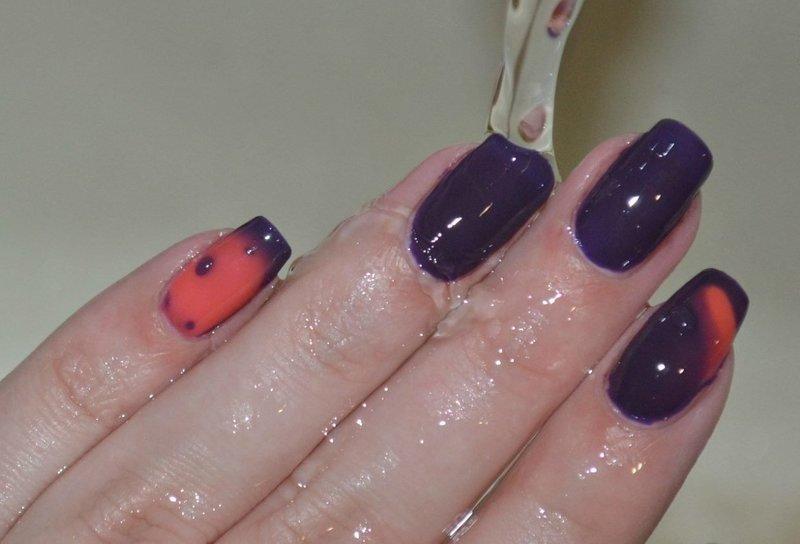 Оранжево-фиолетовый термолак